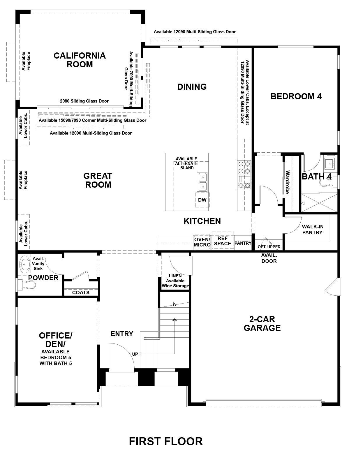 Ridgepointe floor plan - Residence 1, floor 1