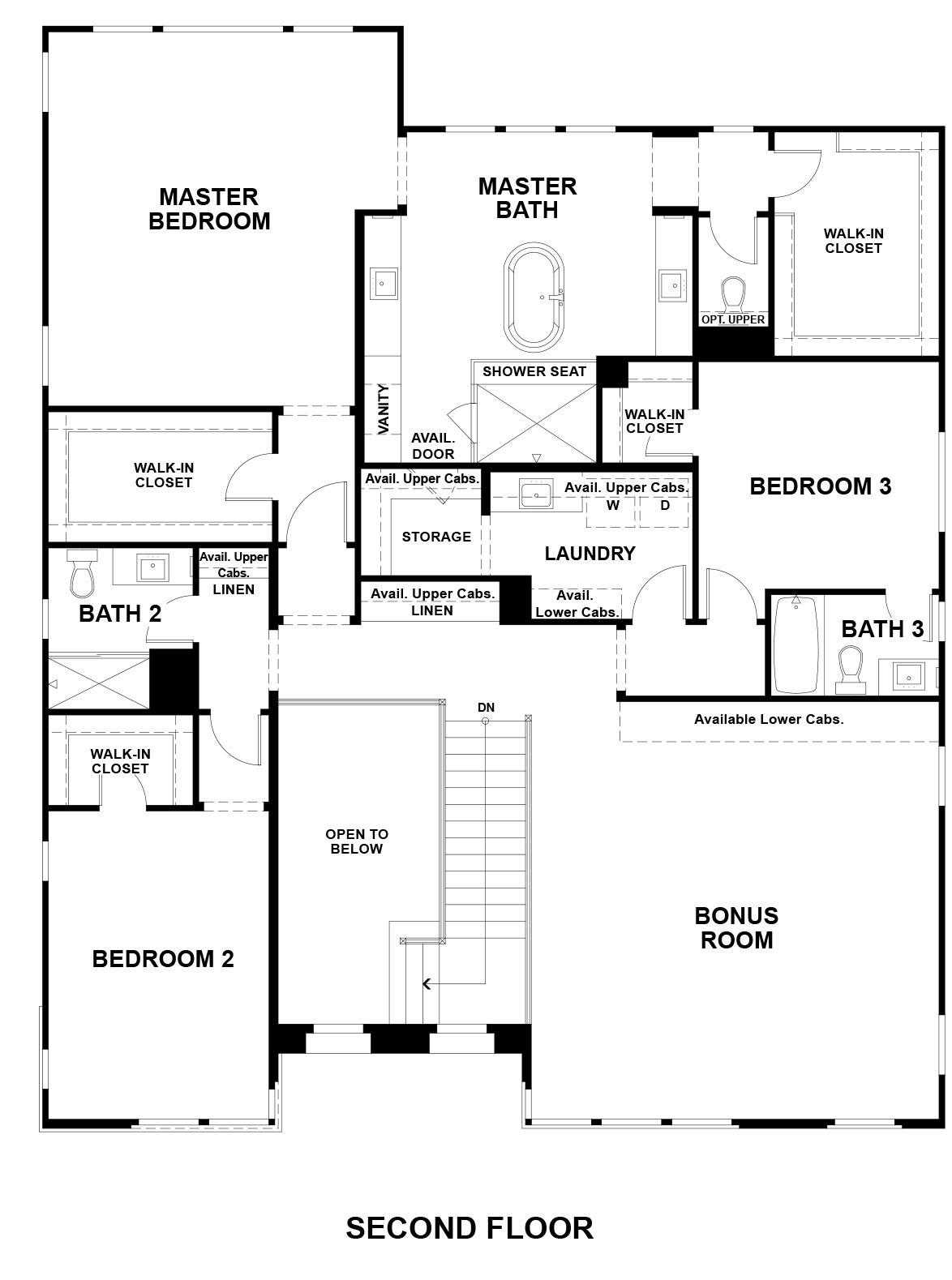 Ridgepointe floor plan - Residence 1, floor 2