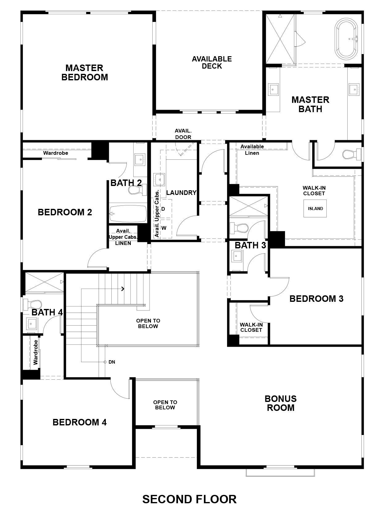 Ridgepointe floor plan - Residence 2, floor 2