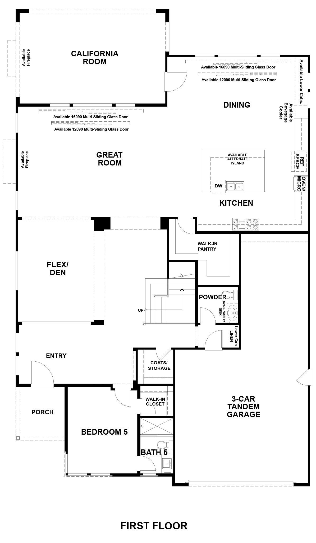 Ridgepointe floor plan - Residence 3, floor 1