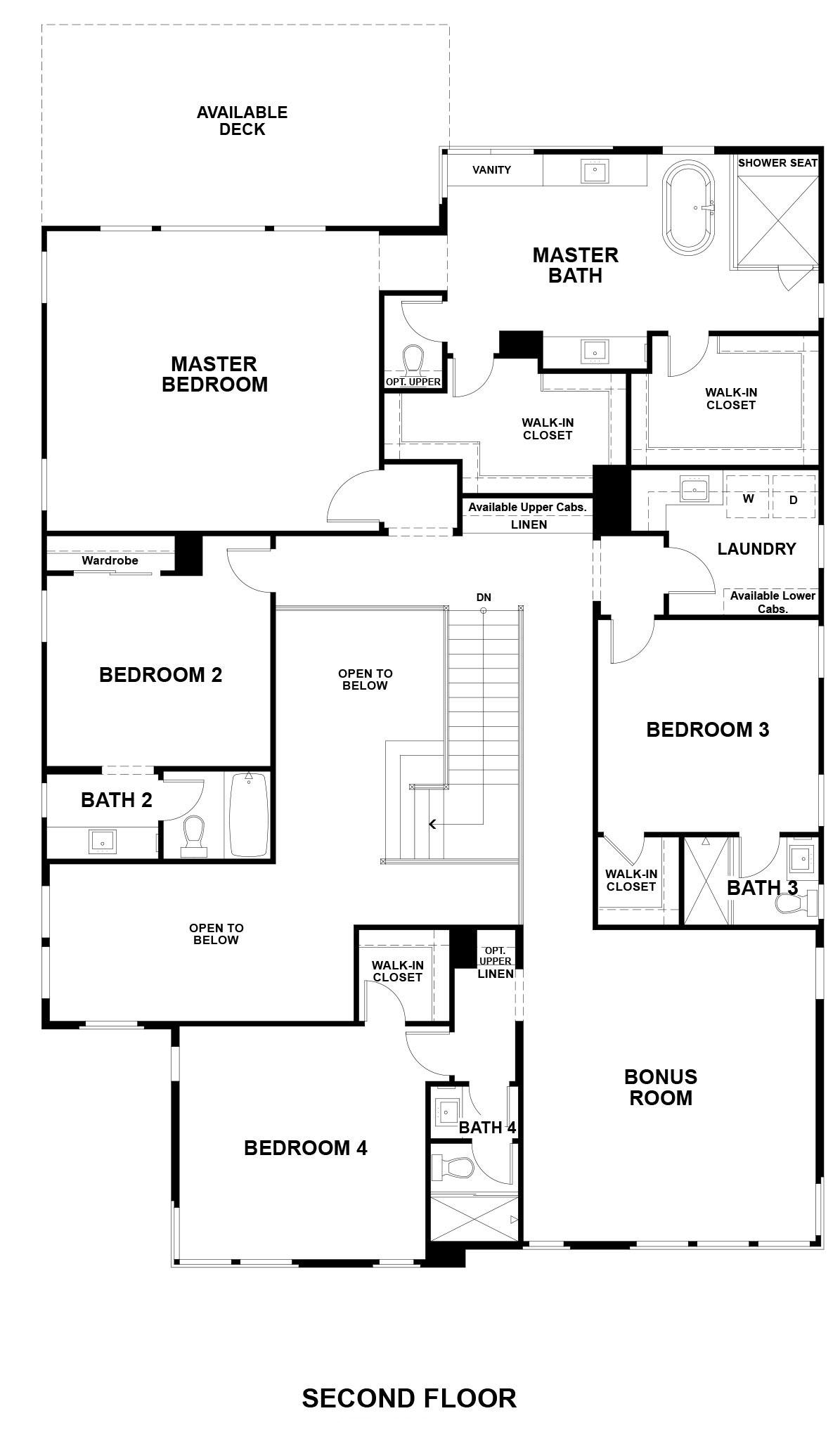 Ridgepointe floor plan - Residence 3, floor 2